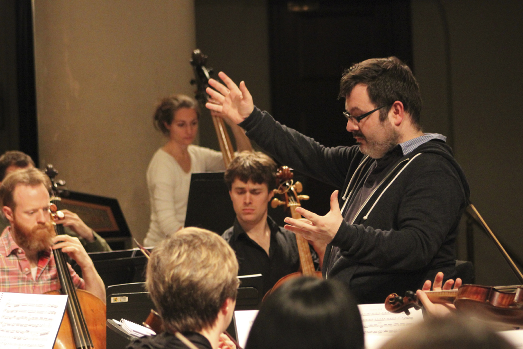 Christian Curnyn rehearsing Early Opera Company ©Claire Shovelton ROH