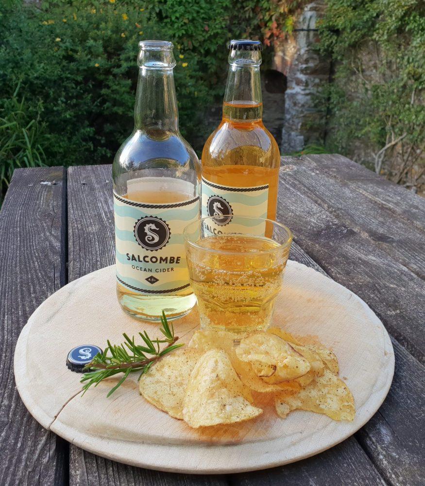 Devon, Salcombe Cider and Burts Crisps-min