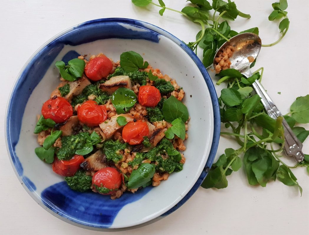 FLAVOUR Barley, tomato and watercress stew