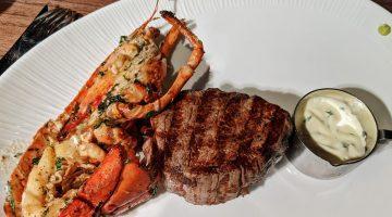 Heliot Steak House Fillet Steak with half a lobster - Hippodrome