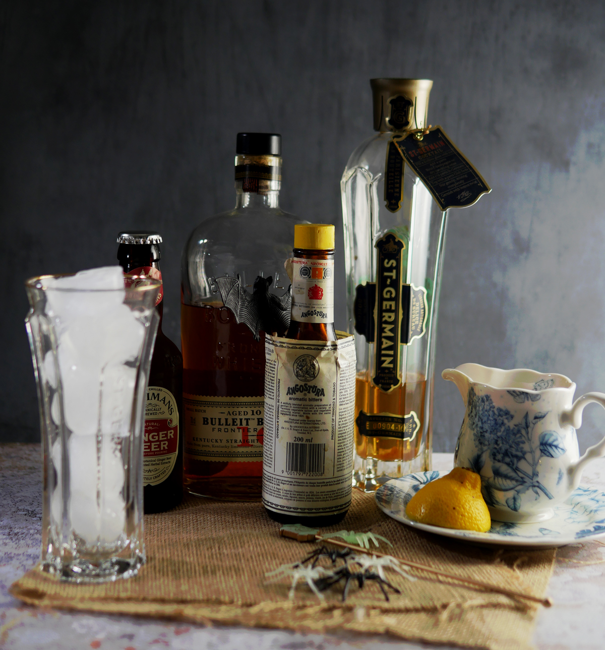Ingredients for Skeleton Key Cocktail