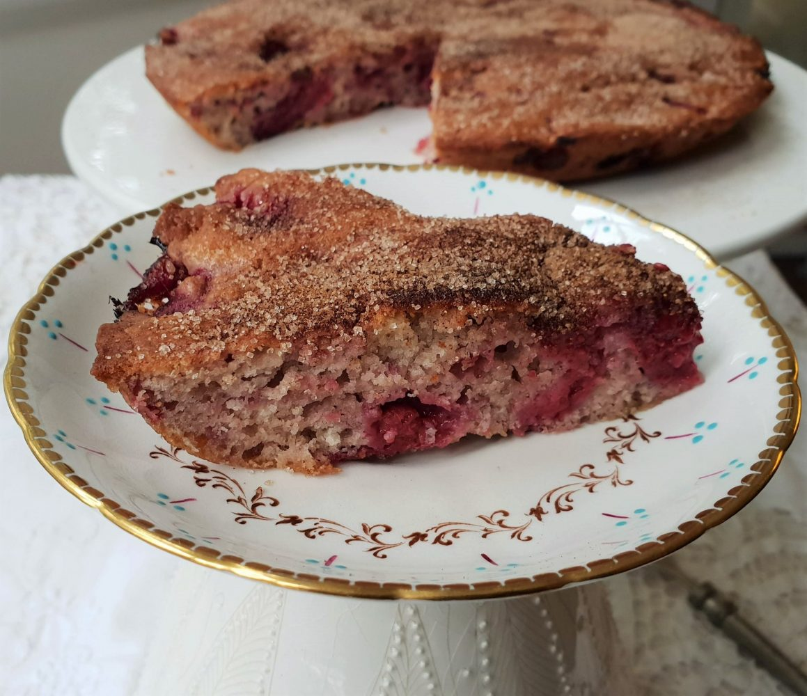 The Food Almanac, spiced blueberry muffin cake