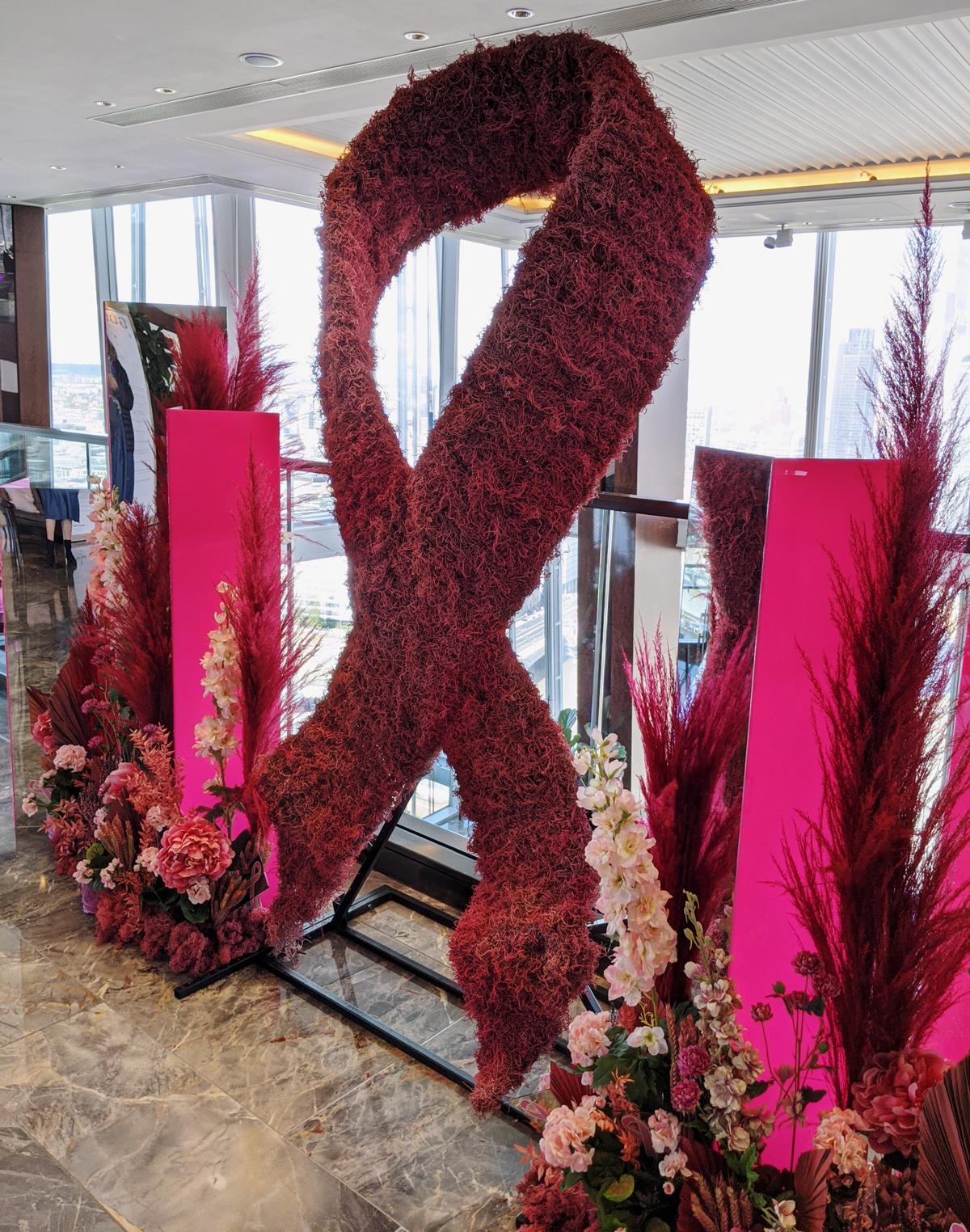 Ting at the Shard Floral Display