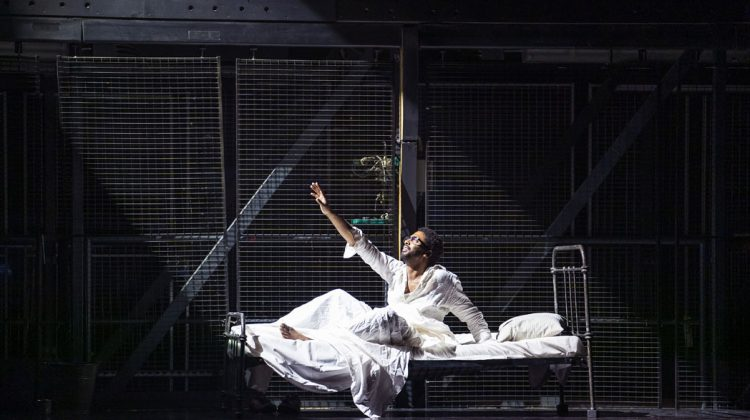A scene from The Knife Of Dawn and New Dark Age from New Dark Age, the new production by The Royal Opera @ Royal Opera House. (Opening 24-10-2020) ©Tristram Kenton 10/20 (3 Raveley Street, LONDON NW5 2HX TEL 0207 267 5550 Mob 07973 617 355)email: tristram@tristramkenton.com