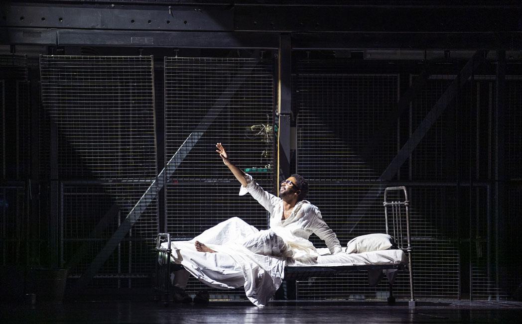 A scene from The Knife Of Dawn and New Dark Age from New Dark Age, the new production by The Royal Opera @ Royal Opera House. (Opening 24-10-2020) ©Tristram Kenton 10/20 (3 Raveley Street, LONDON NW5 2HX TEL 0207 267 5550 Mob 07973 617 355)email: tristram@tristramkenton.com