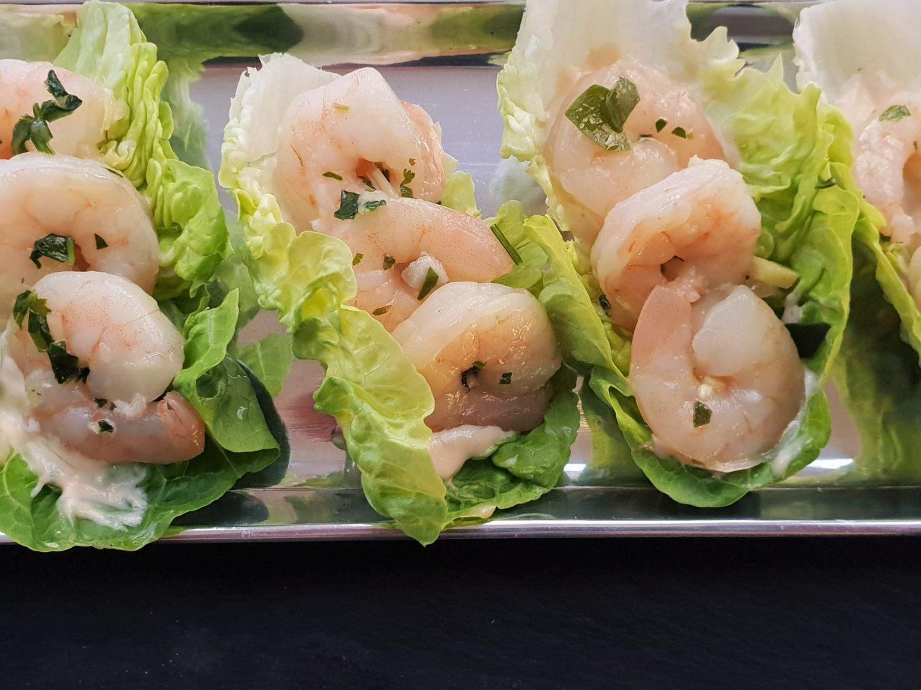 A Cook's Tour Shrimp leaf tacos