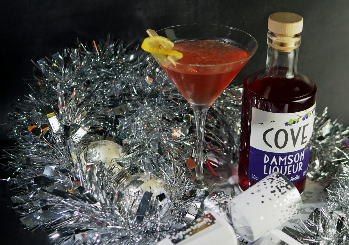 Cove Damson Liqueur with cocktail - Copy