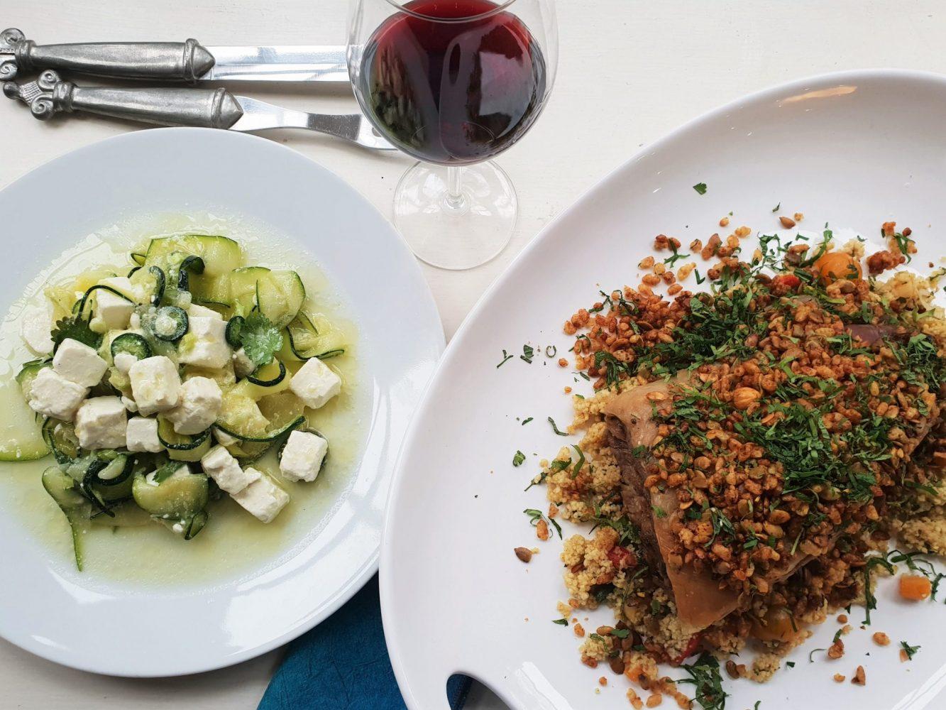 HAME lamb shoulder and courgette salad