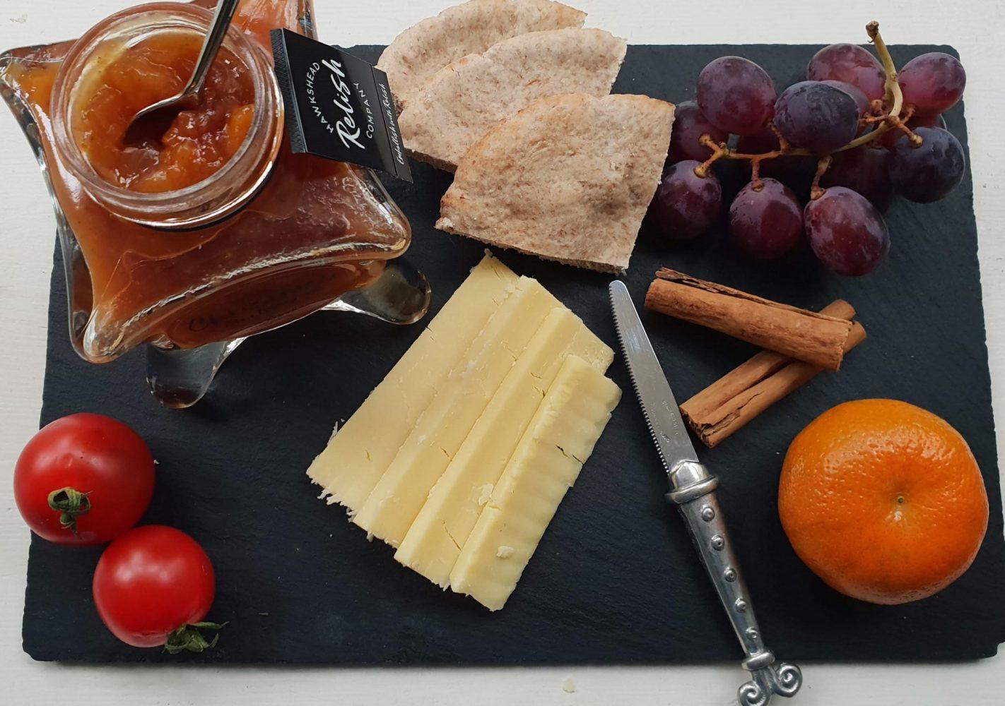 Hawkshead christmas chutney with cheese