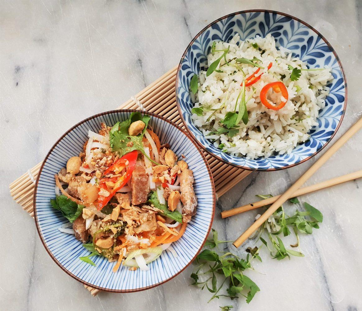 Home By Nico jasmine rice and pad thai