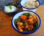 Homegrown colourful vegetable curry