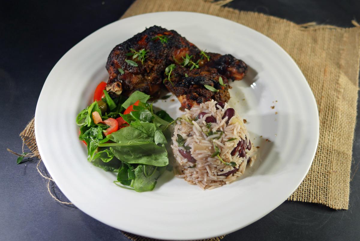 Jerk Chicken Rice and Peas