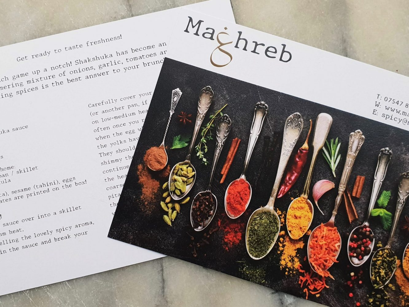 Maghreb recipe card