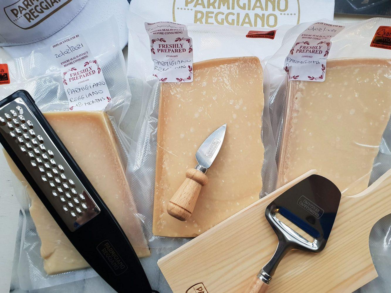 Parmigiano Reggiano cheese selection