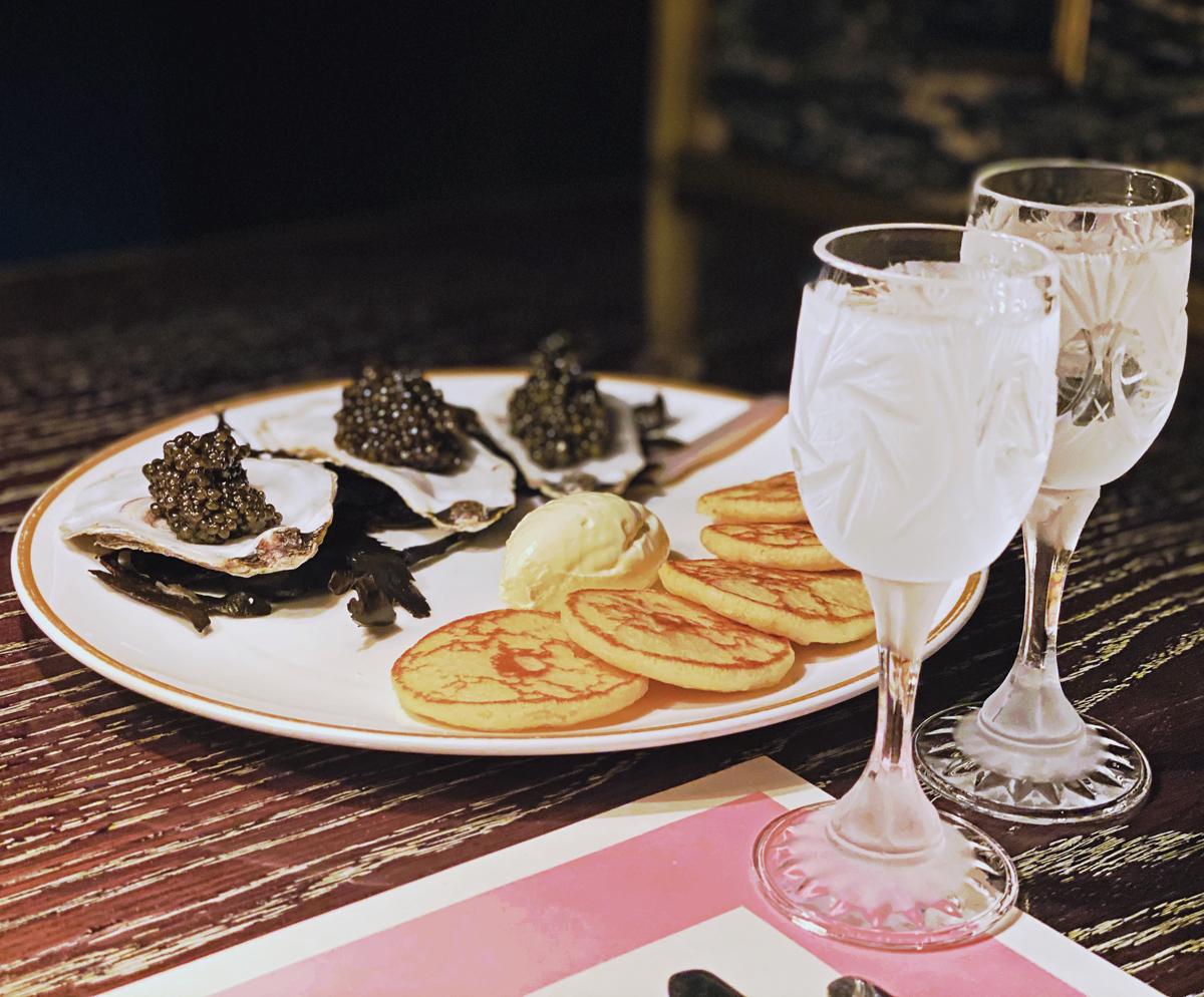 Bob Bob Ricard Caviar Blinis and Vodka