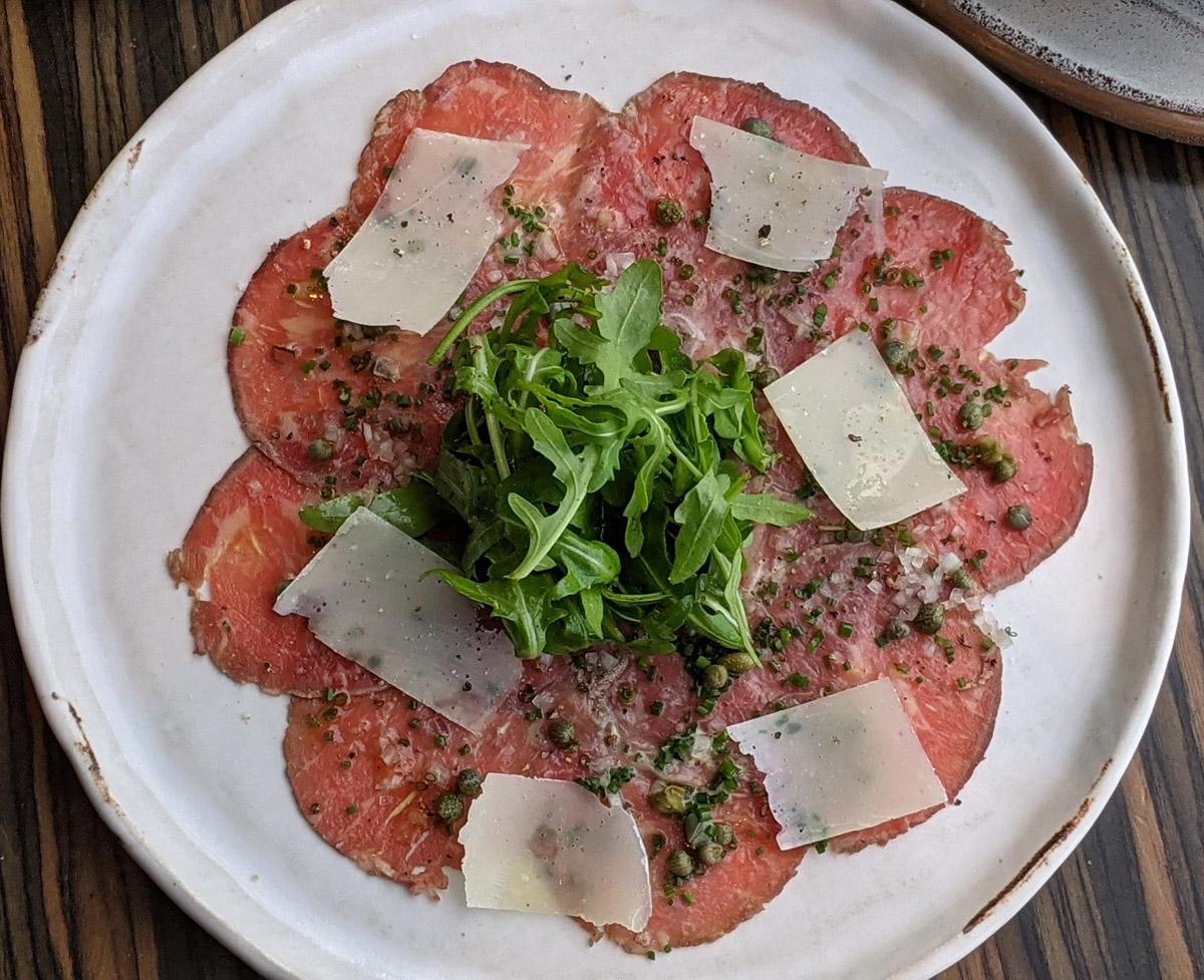 Carpaccio of Beef at Oblix Brunch