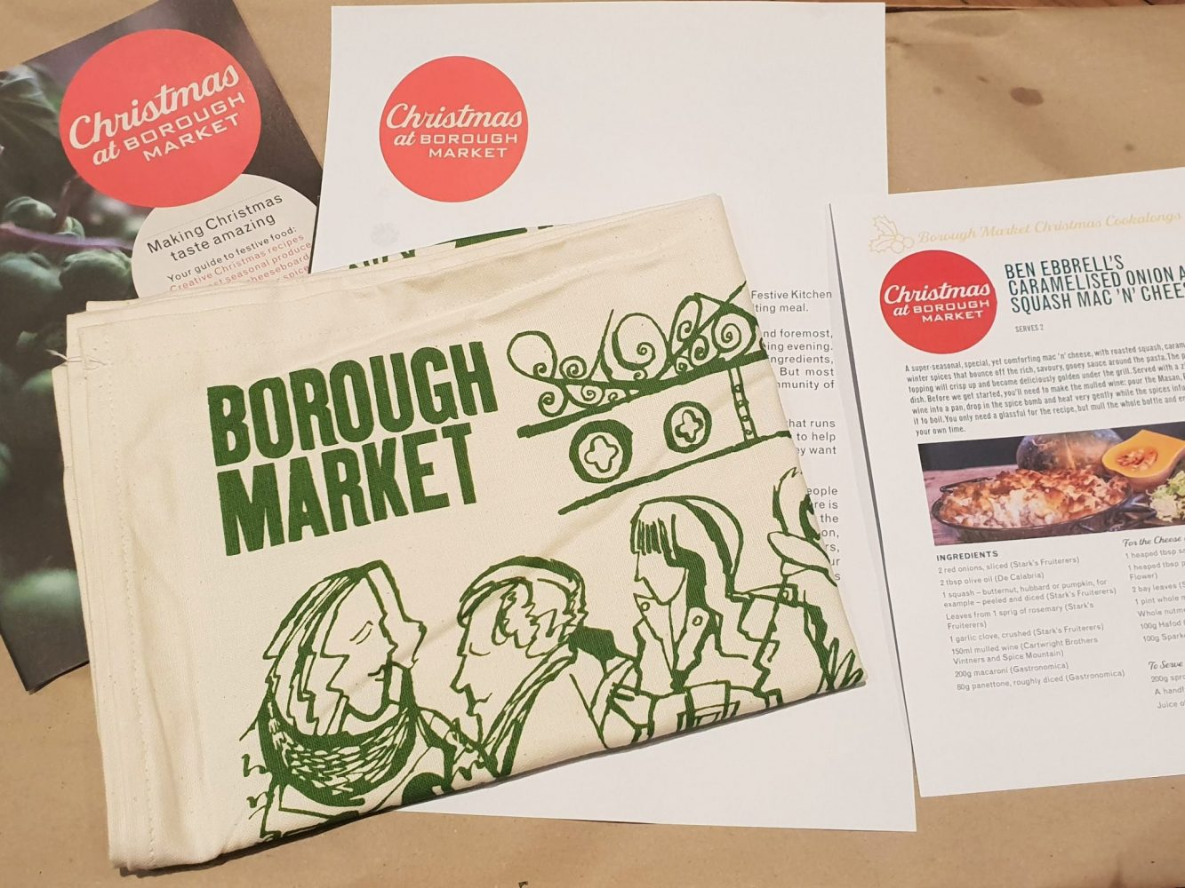 Christmas at Borough Market tea towel