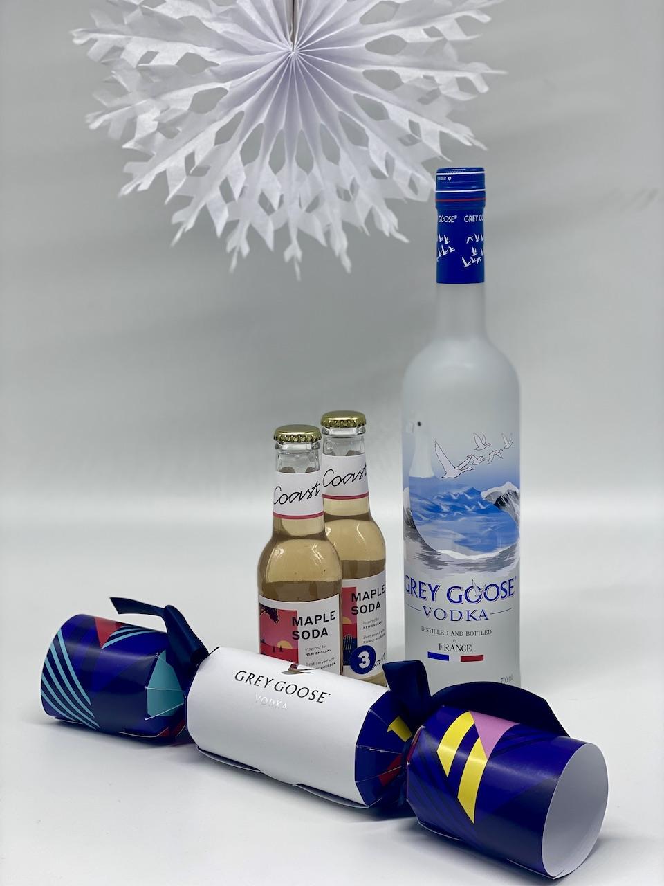 Grey Goose vodka and Giz 'n' Green