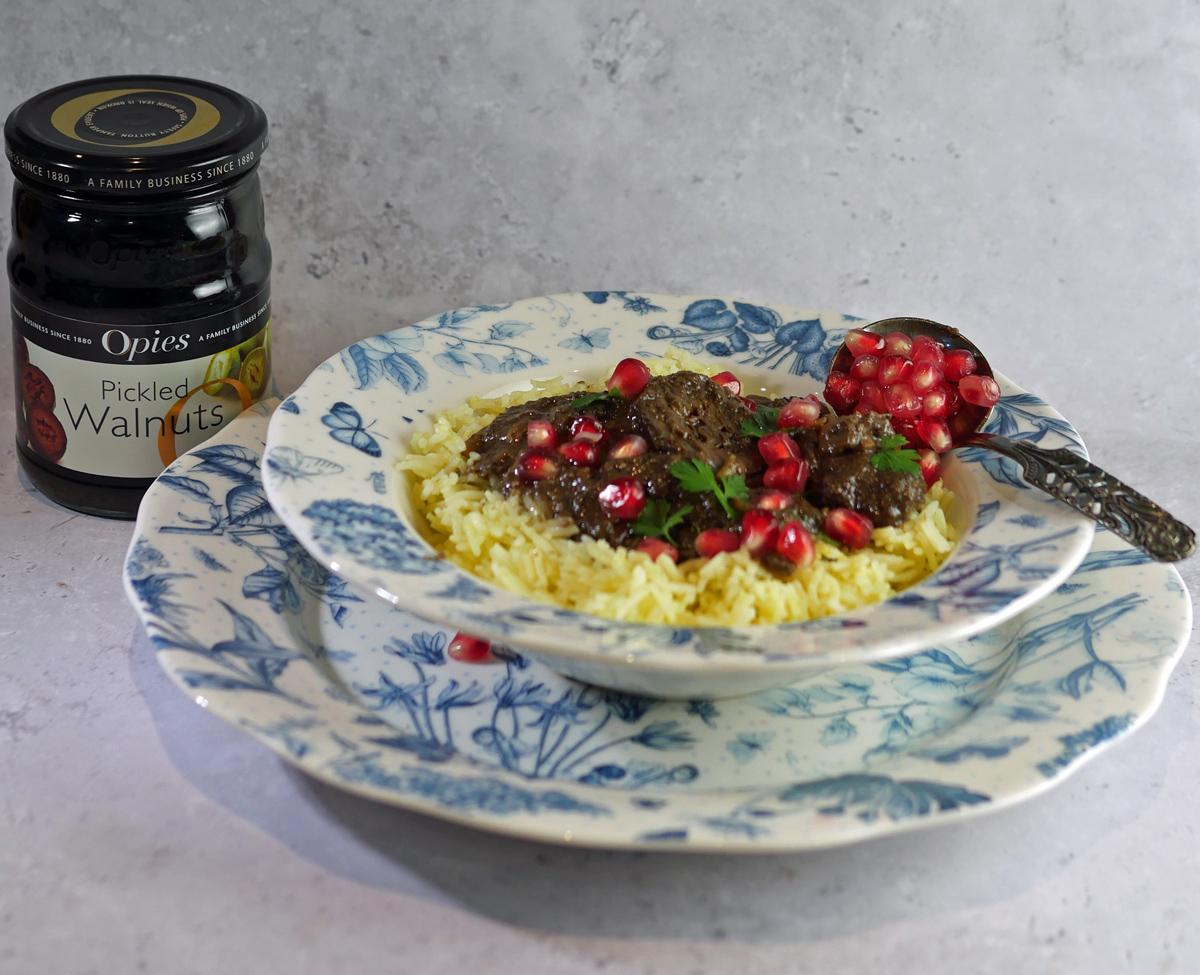 Lamb Fesenjan with Pomegranate