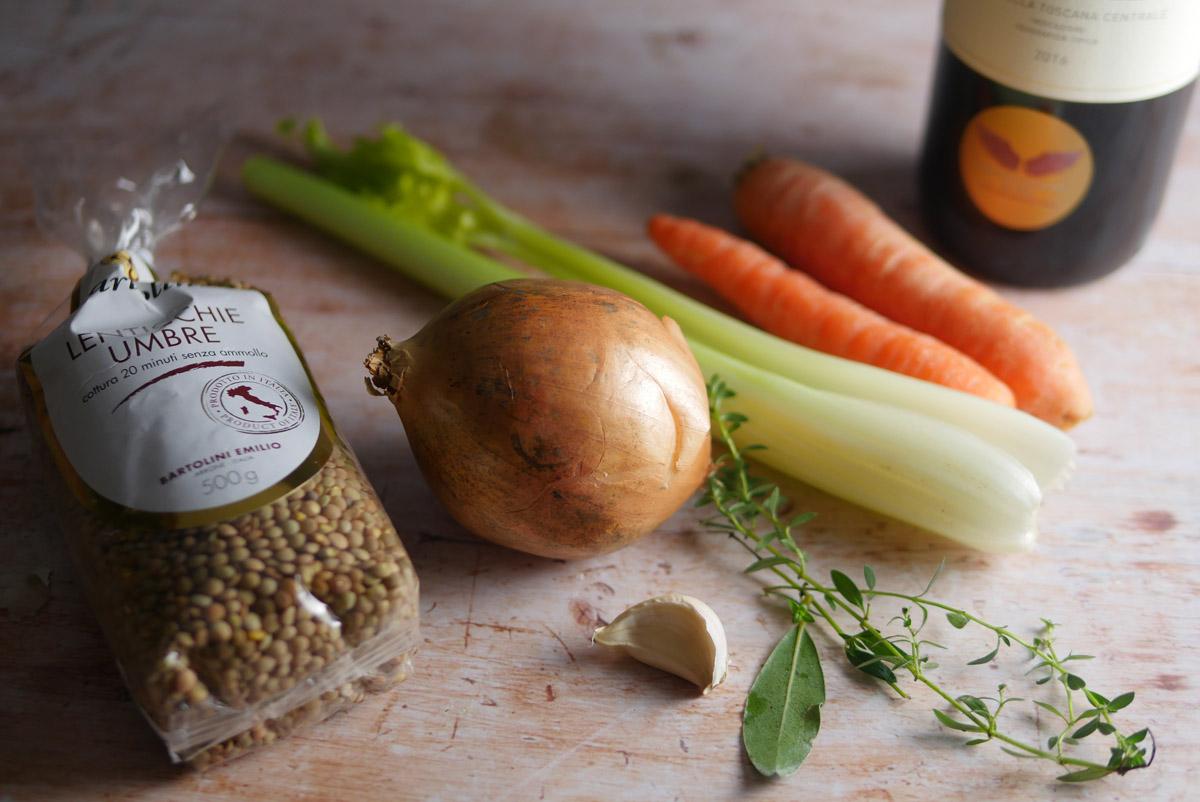ingredients for lentils