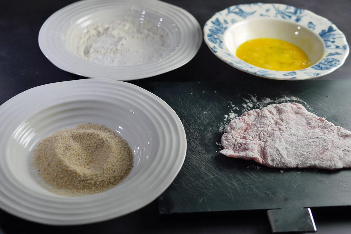 Floured Pork Schnitzel