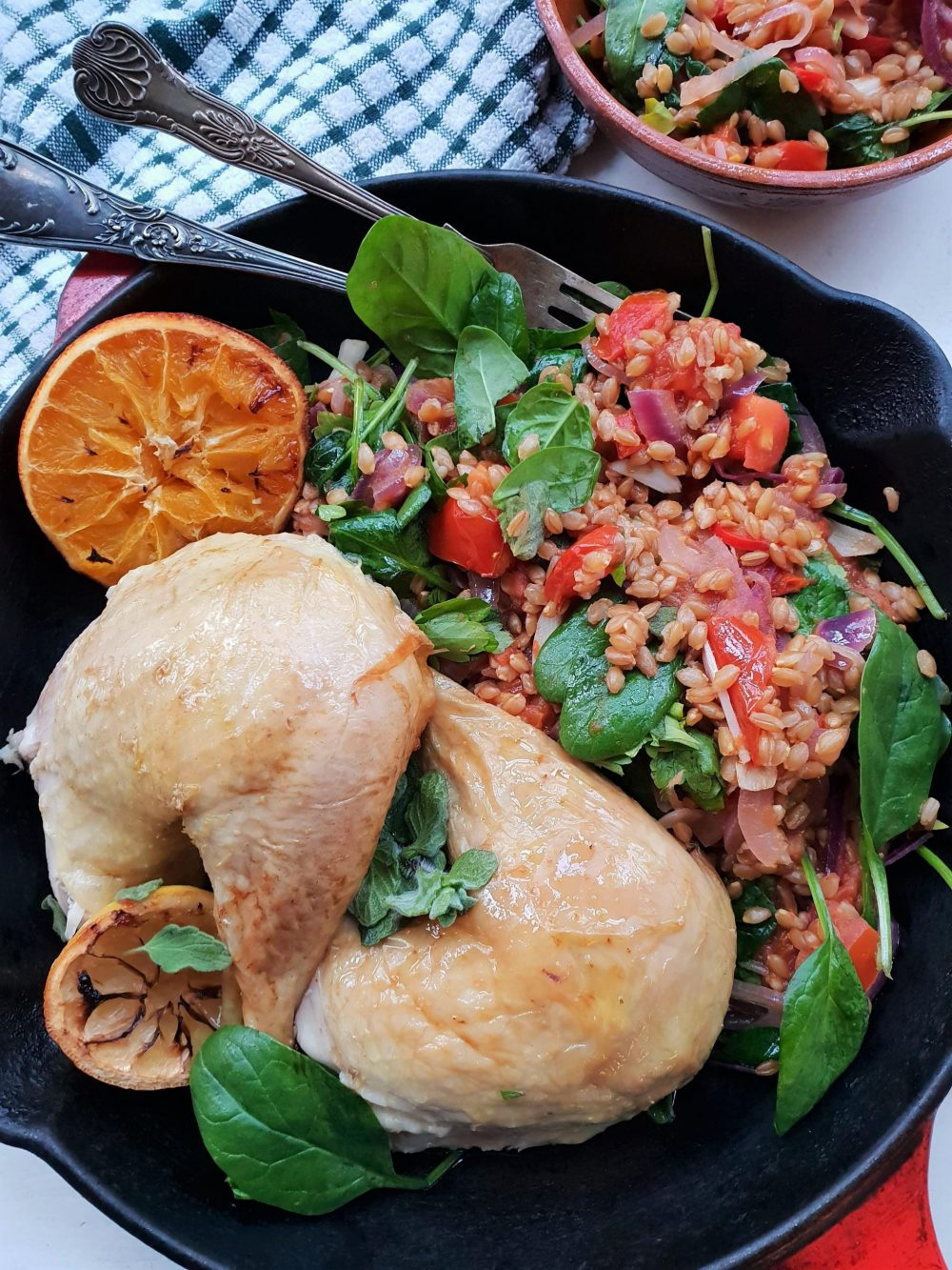 Happy Food For LIfe Roast Chicken with Spelt-min