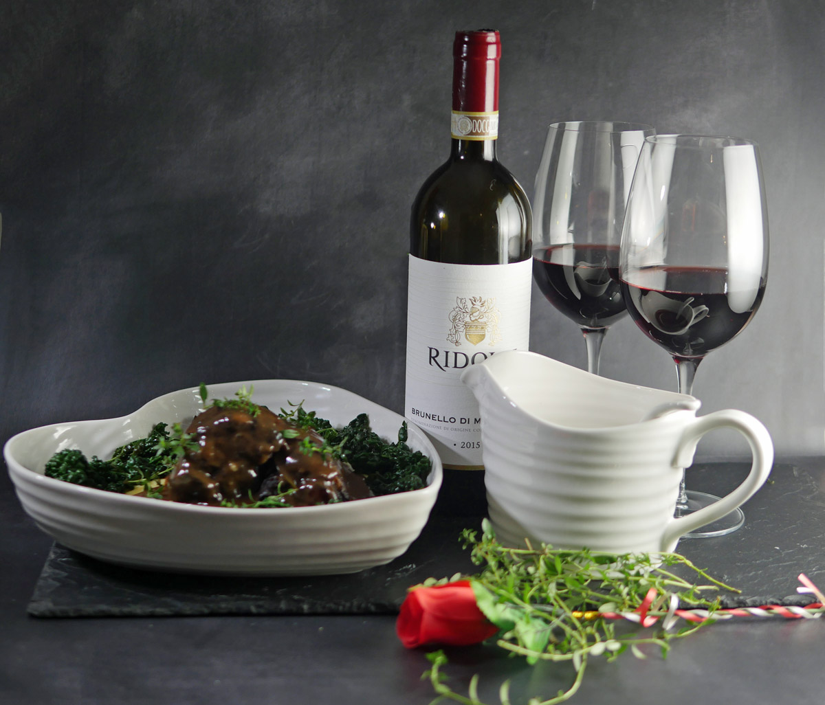 Venison Shanks with Red Wine