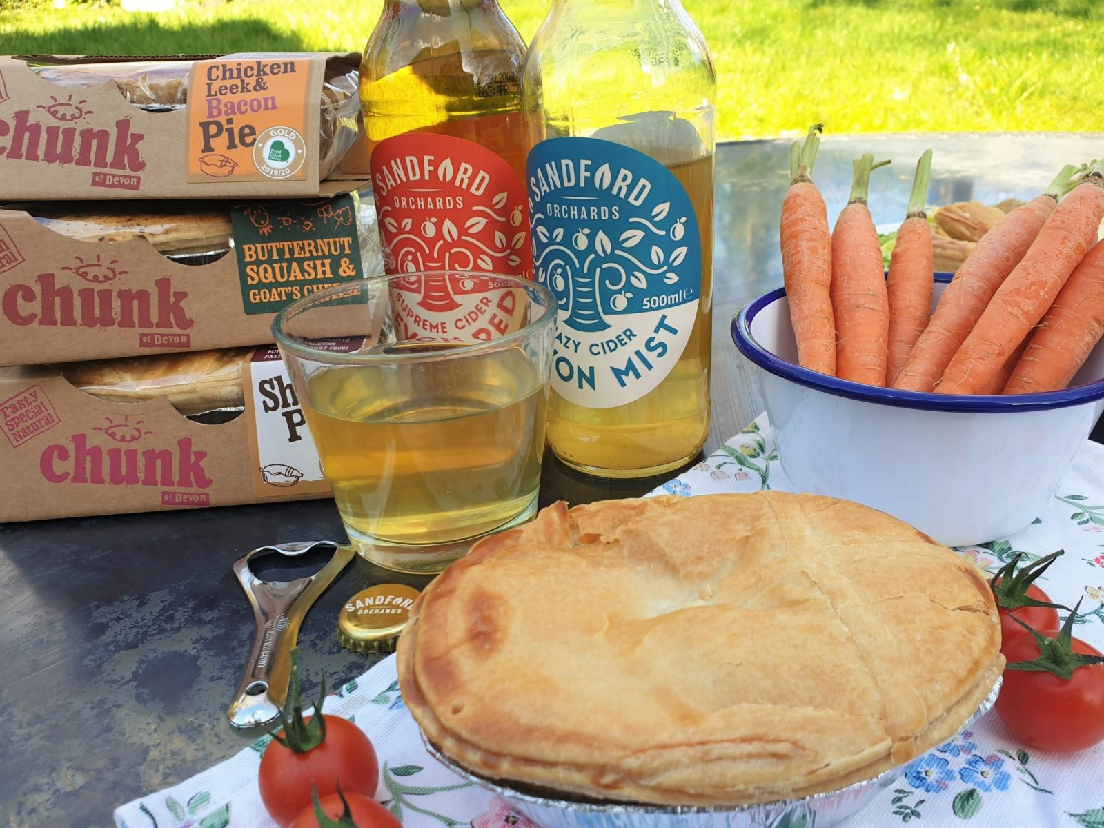 Chunk of Devon pie pairs with Sandford orchard cider