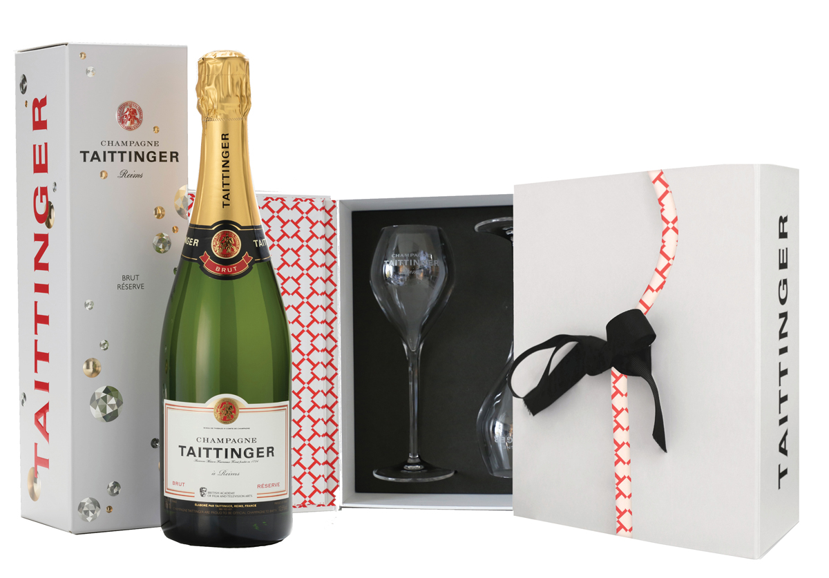 Taittinger BAFTA photo bottle & glass pack