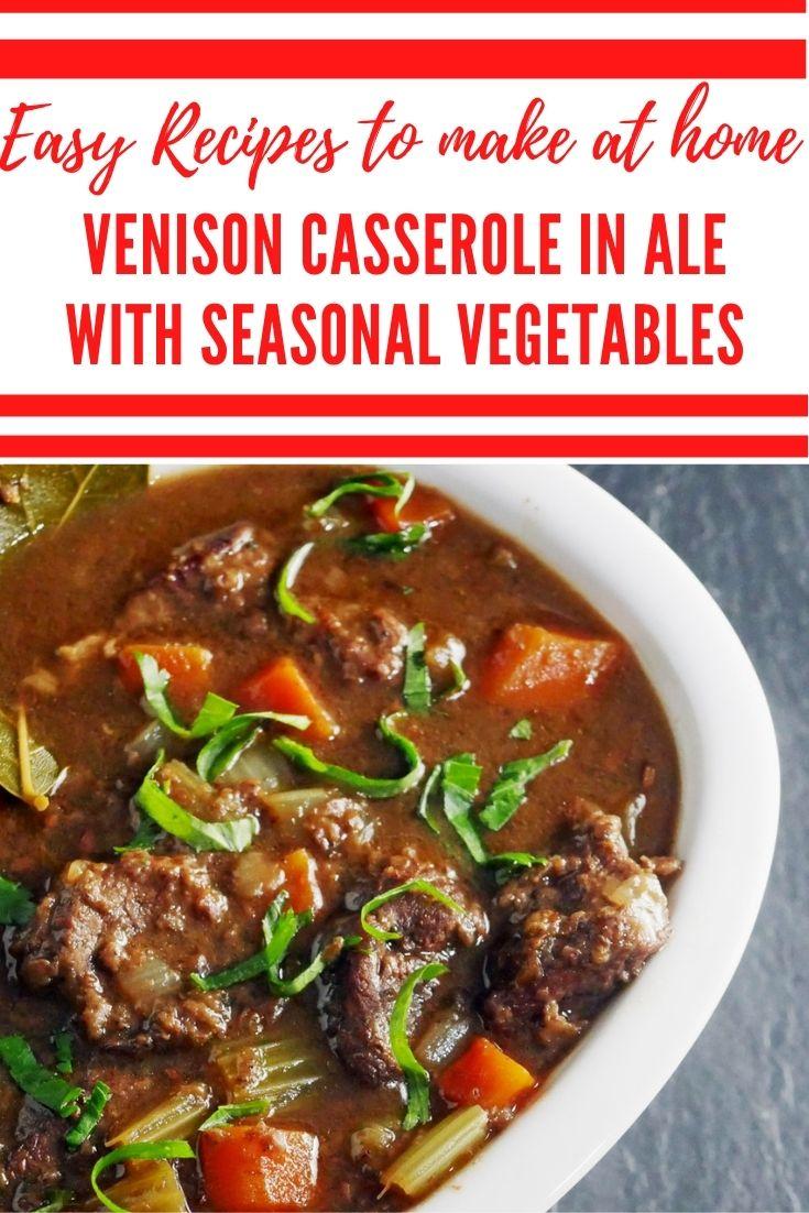 Venison Casserole - Spiced Venison in Ale