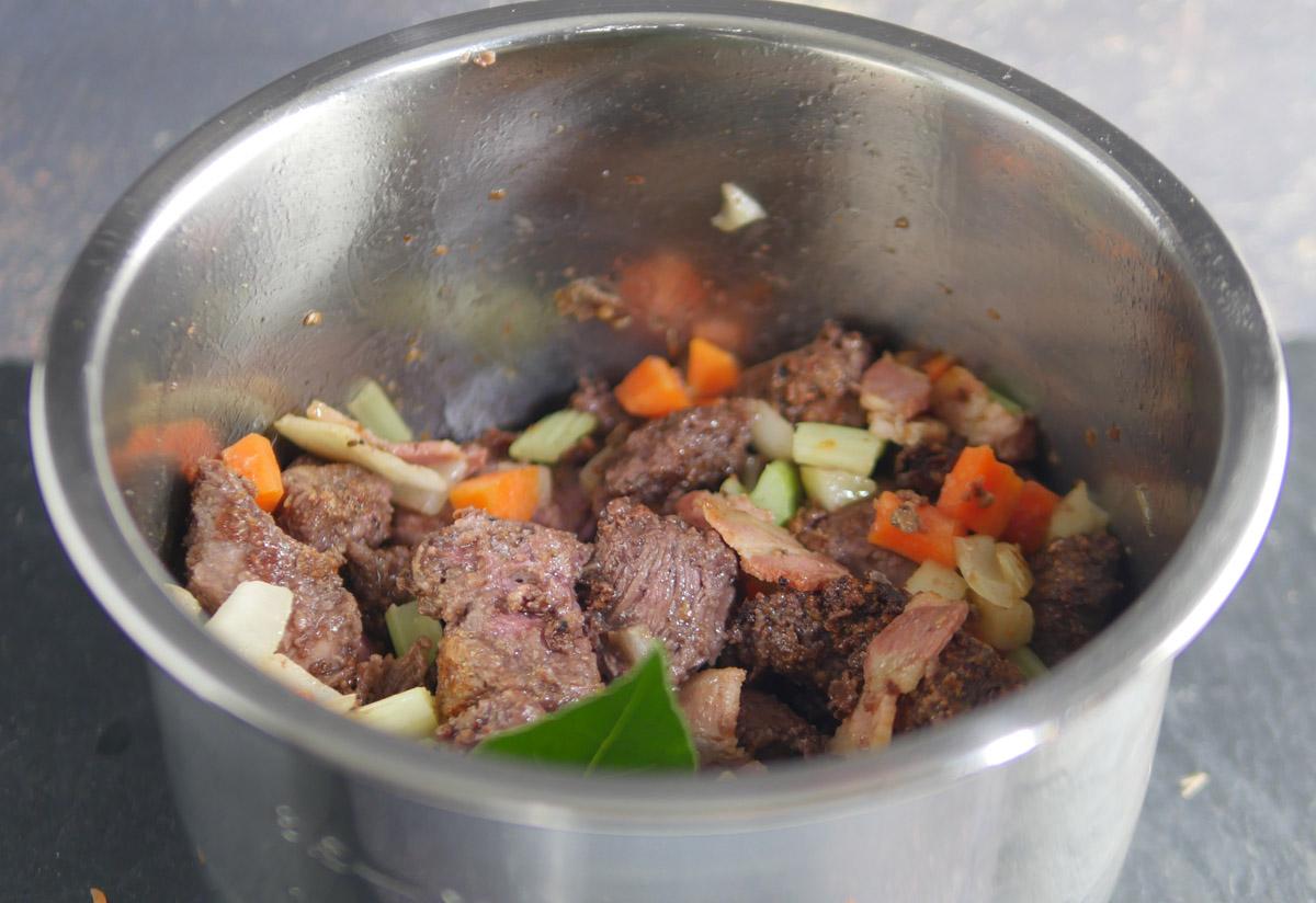 Venison Casserole meat and vegetables