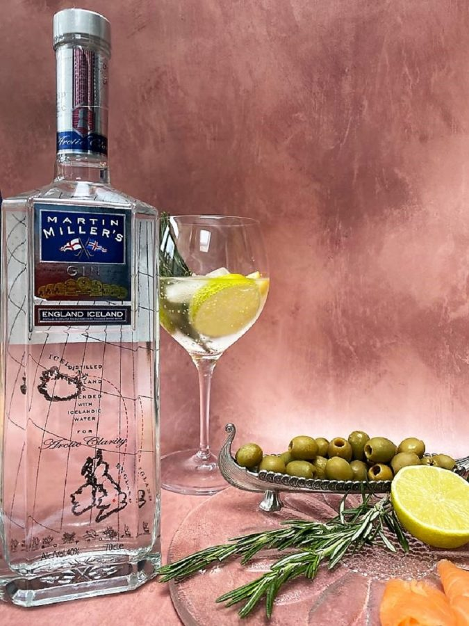 bottle of Martin Miller's gin