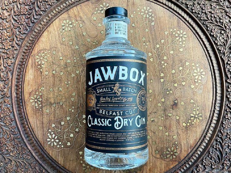 Bottle of Jawbox dry gin
