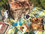 Firezza picnic with pizza