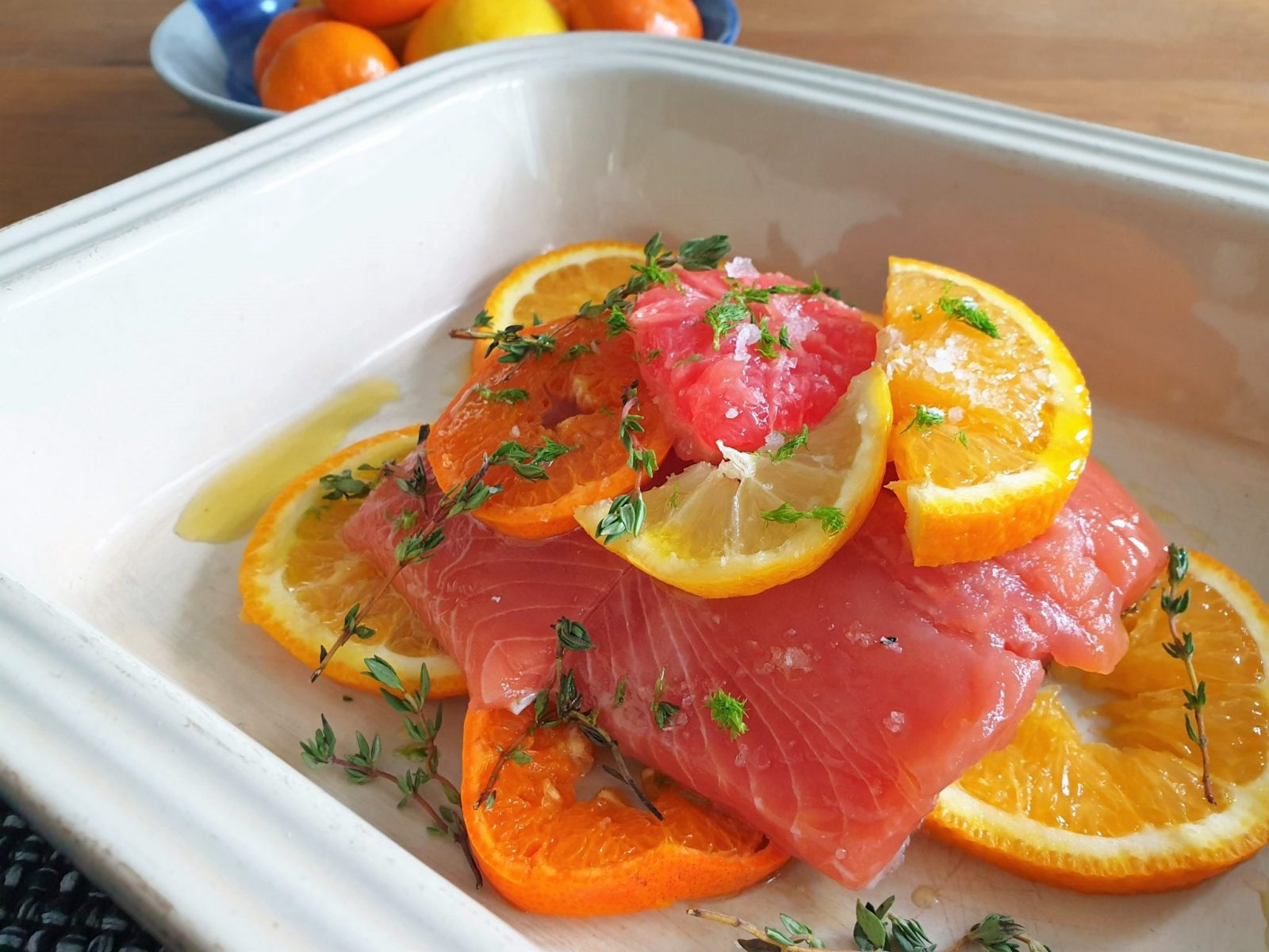 For The Love of the Sea Salmon with citrus