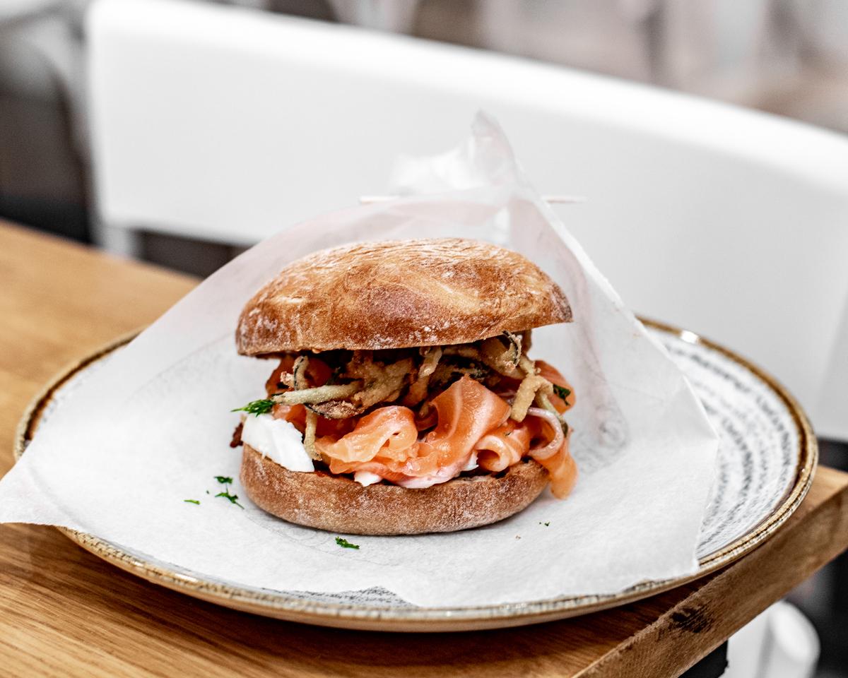 Raw London Cured Salmon sea bun
