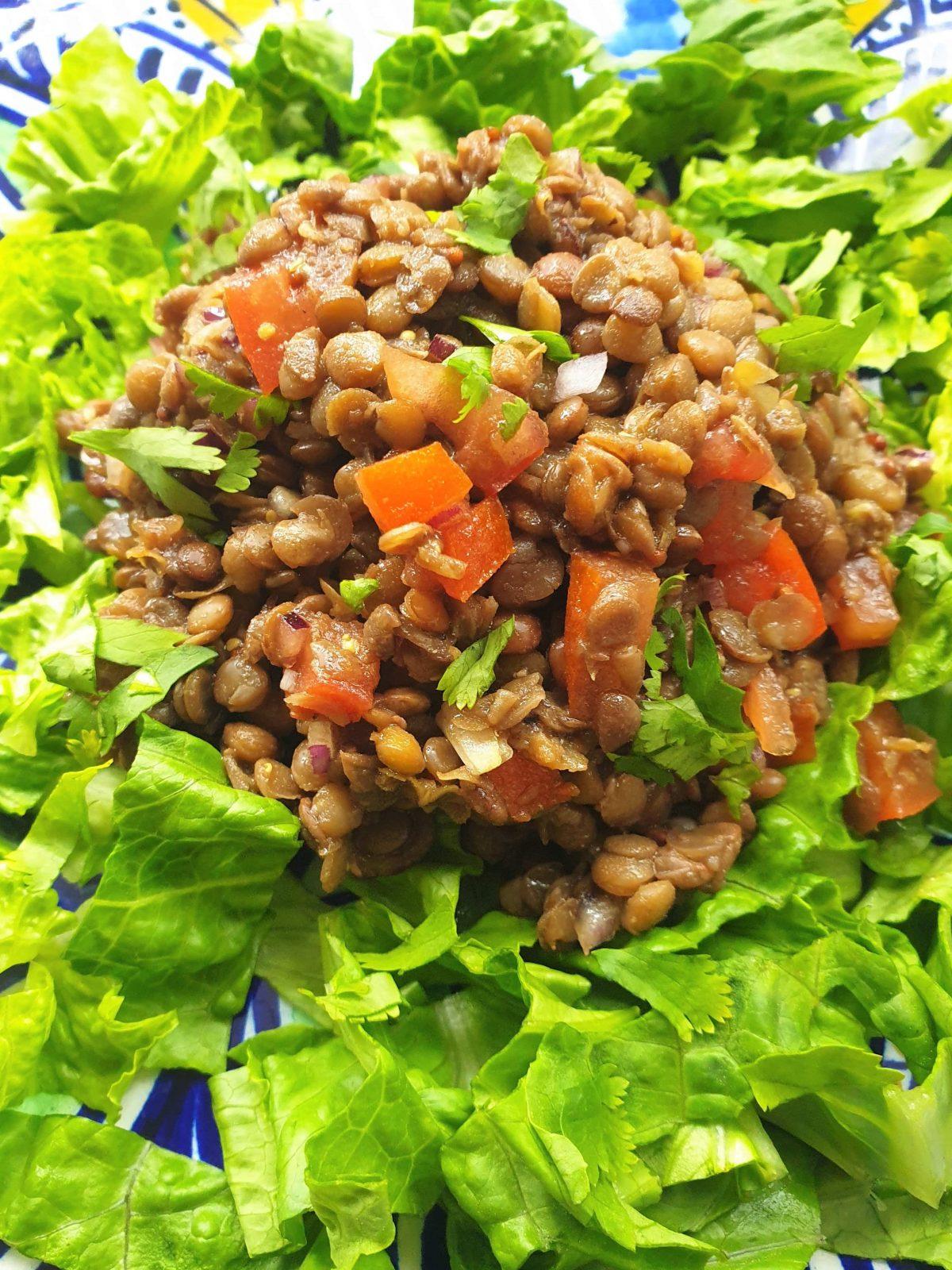 The Mighty Bean, lentil salad-min