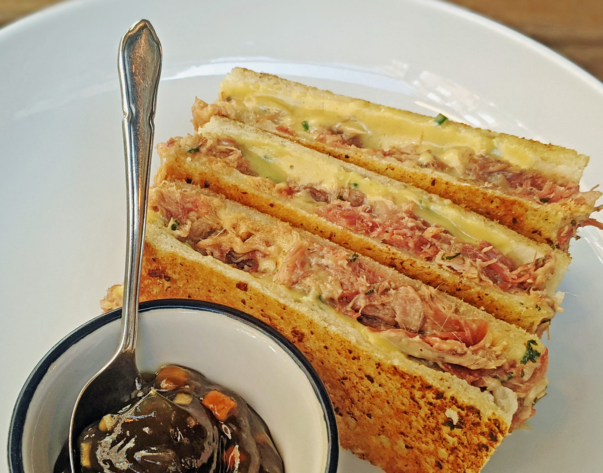 cheese and ham toastie Cora Pearl