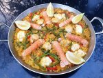 Seafood paella with fish from Amity