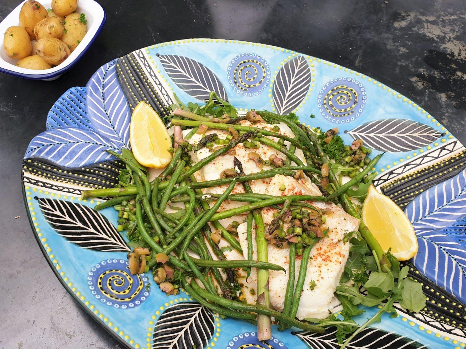 Amity fish roasted halibut