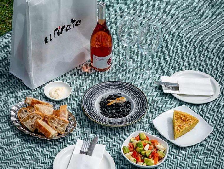 A pretty picnic spread from Eli Pirata spanish restaurant