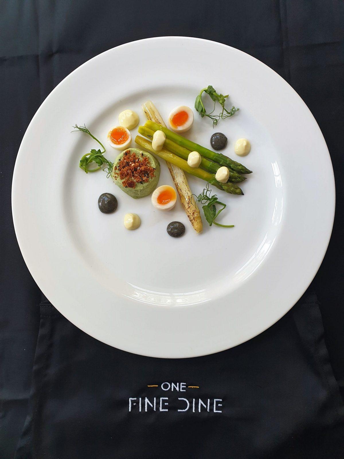 One Fine DIne asparagus starter-