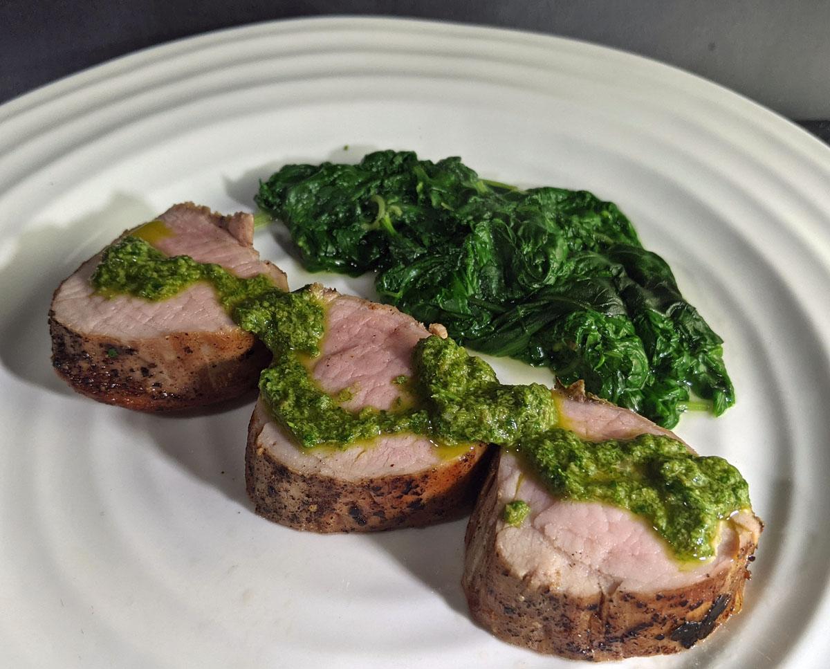 Pork Tenderloin Sauce Verte
