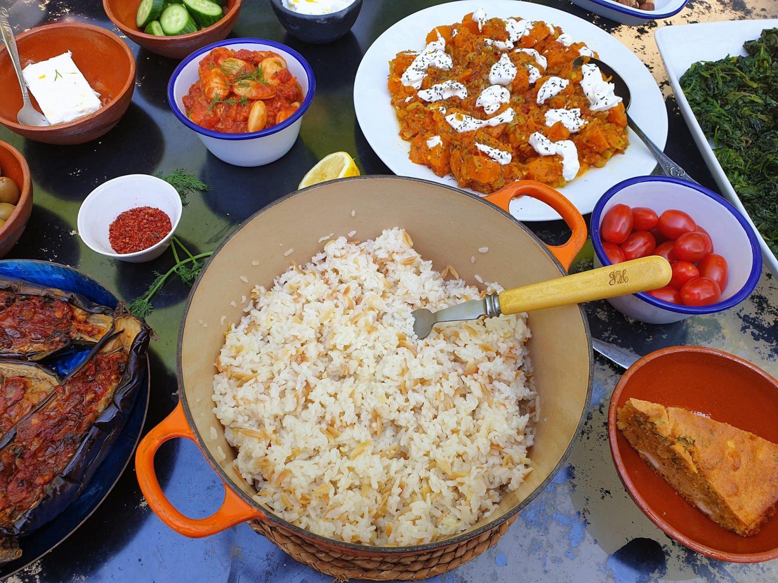 Ripe Figs orzo rice