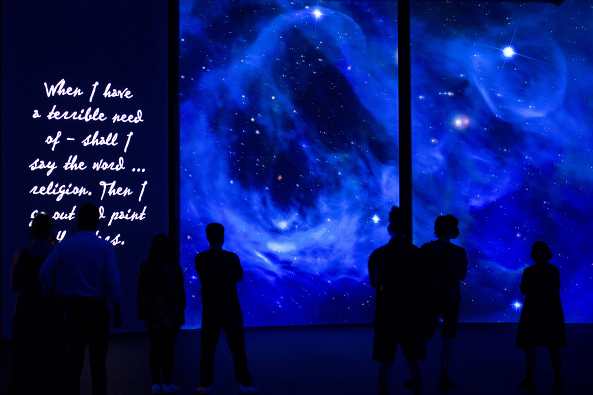 sky at night - Van Gogh Alive