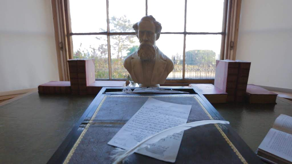 Charles Dickens Bust at Dickens House Museum. Credit Thanet District Council