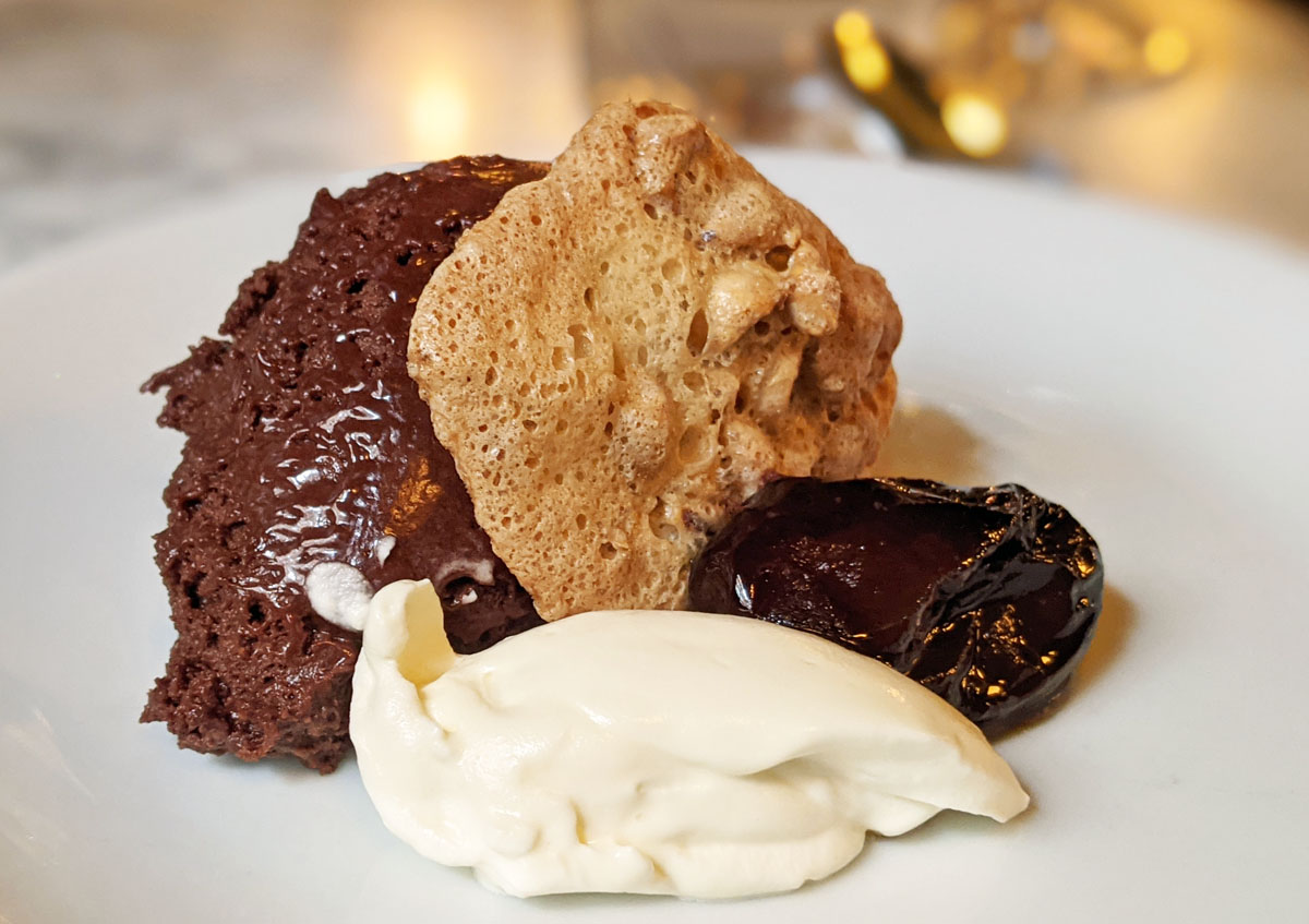 Chocolate Mousse at Noble Rot Soho