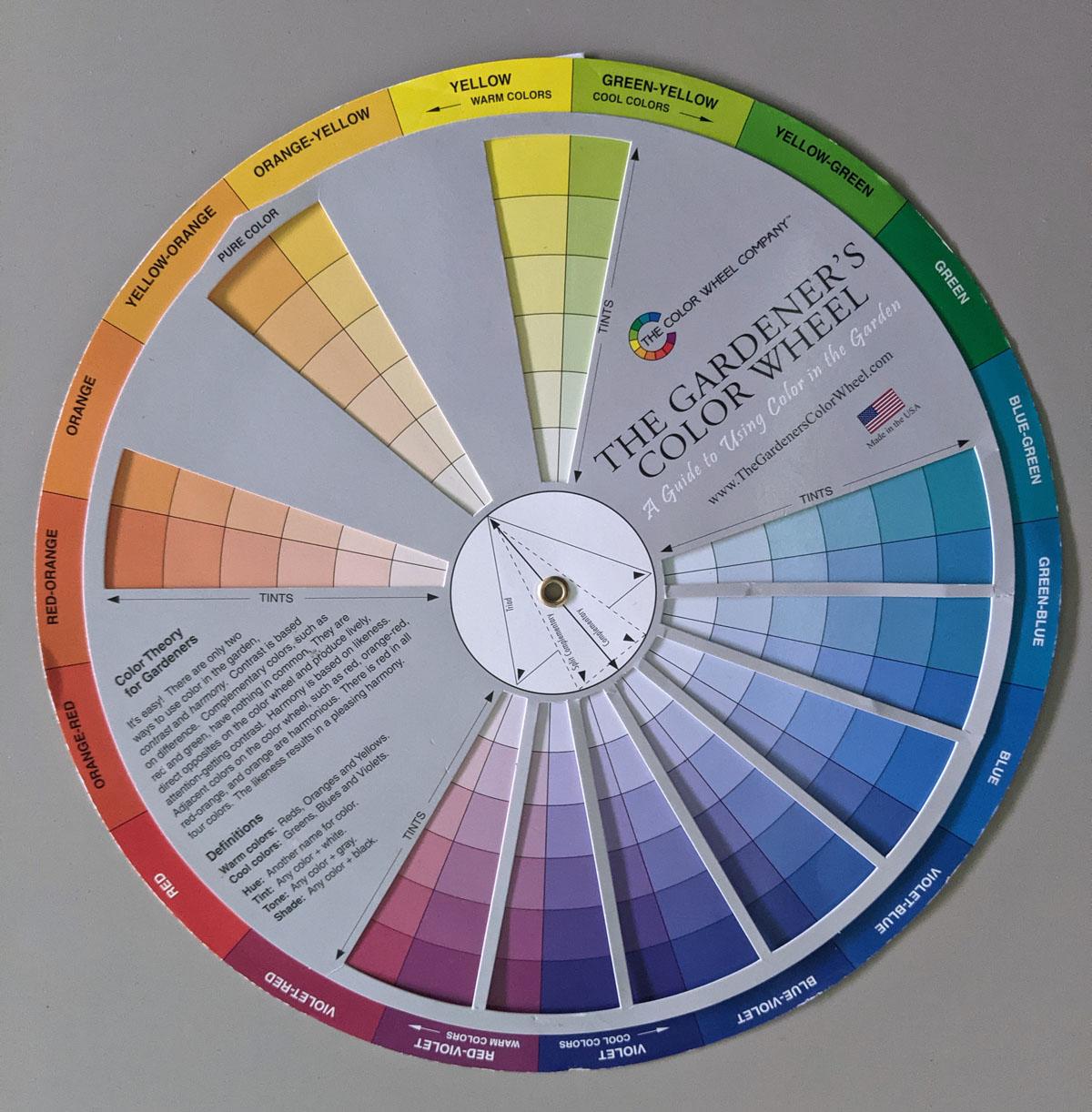 Colour Wheel for Flower ARranging