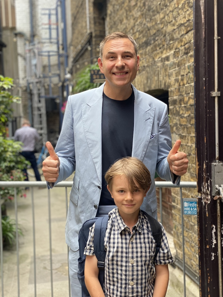 David Walliams and Beau