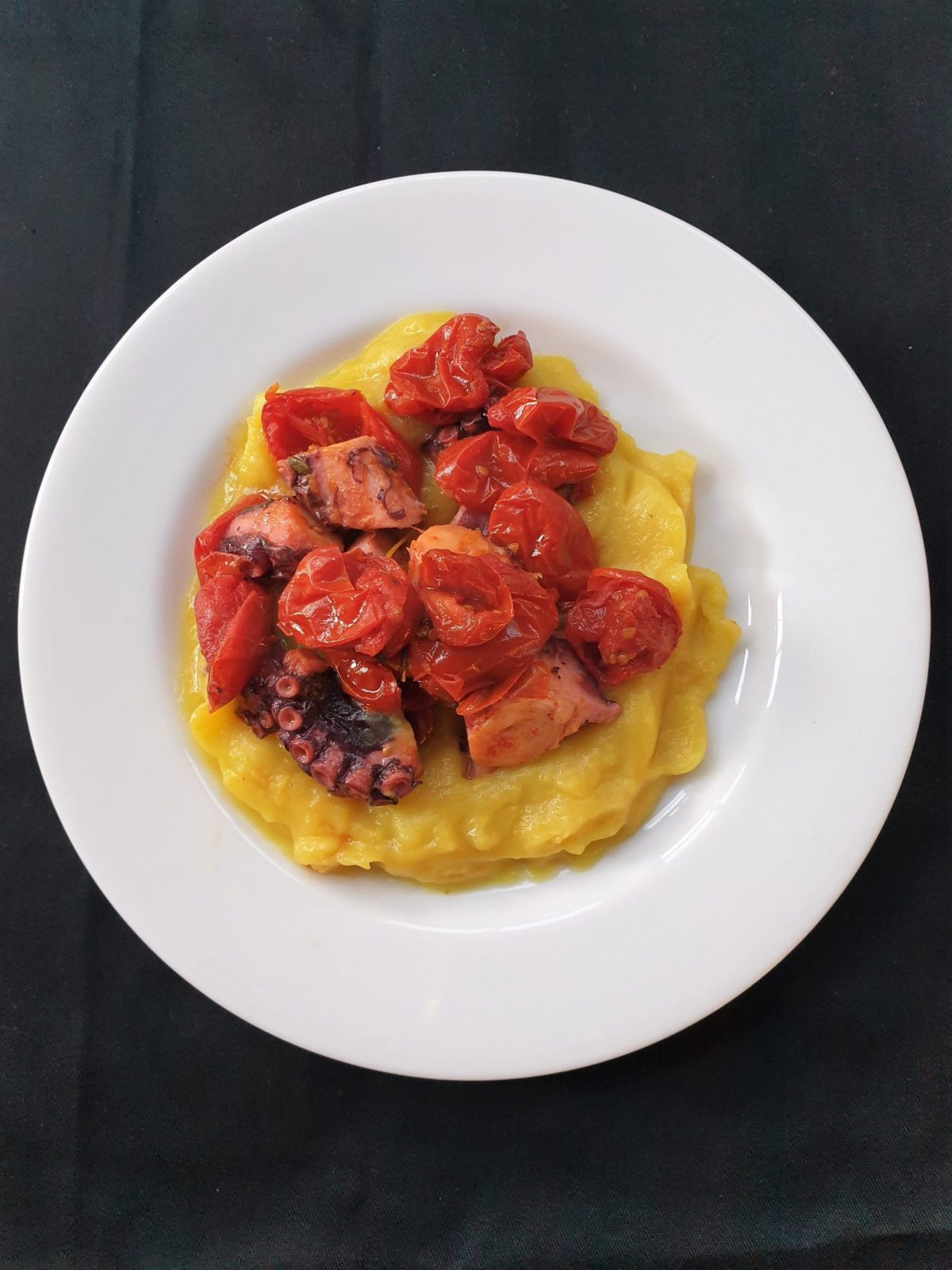Delita octopus with saffron potato cream